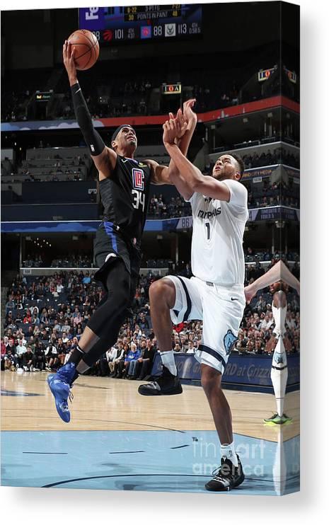 Nba Pro Basketball Canvas Print featuring the photograph Tobias Harris by Joe Murphy