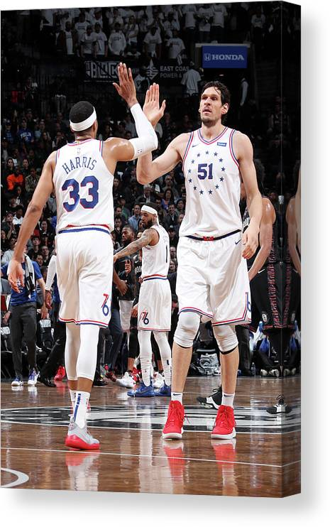 Playoffs Canvas Print featuring the photograph Tobias Harris by Nathaniel S. Butler