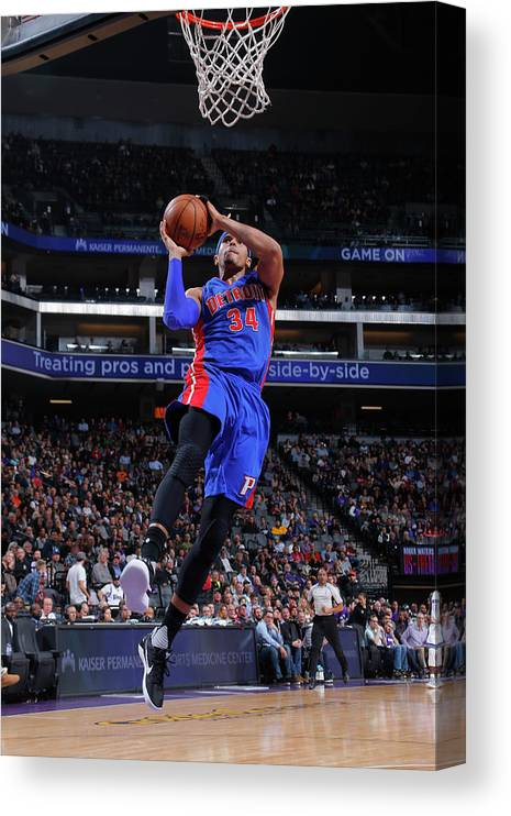 Nba Pro Basketball Canvas Print featuring the photograph Tobias Harris by Rocky Widner