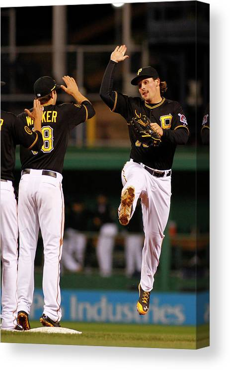 Professional Sport Canvas Print featuring the photograph Travis Snider by Justin K. Aller
