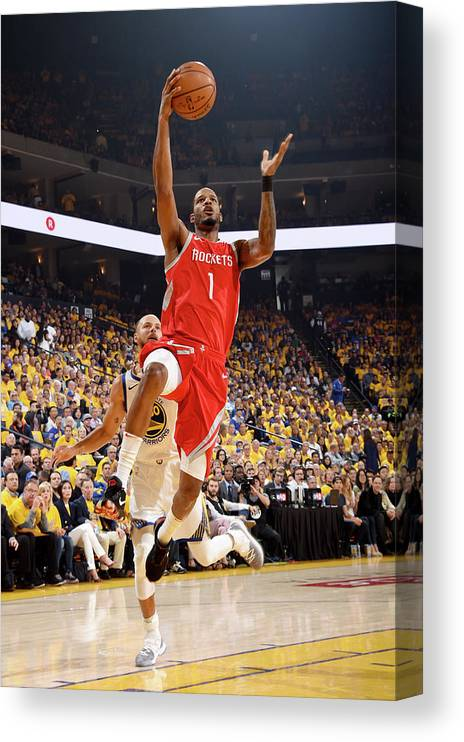 Playoffs Canvas Print featuring the photograph Trevor Ariza by Andrew D. Bernstein