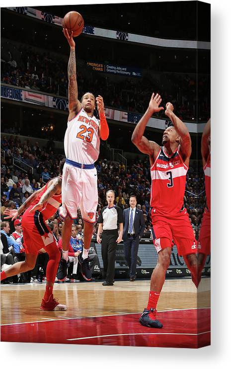 Nba Pro Basketball Canvas Print featuring the photograph Trey Burke by Ned Dishman