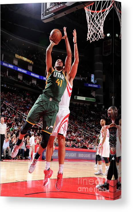 Nba Pro Basketball Canvas Print featuring the photograph Trey Lyles by Bill Baptist