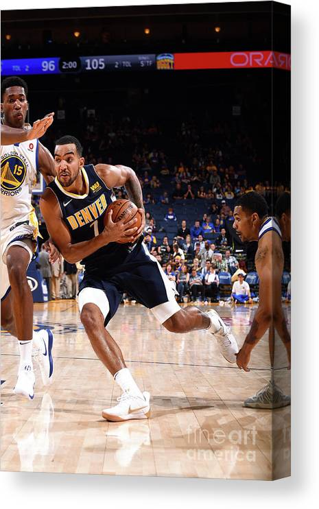 Nba Pro Basketball Canvas Print featuring the photograph Trey Lyles by Noah Graham