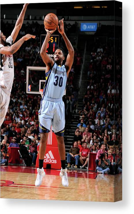 Nba Pro Basketball Canvas Print featuring the photograph Troy Daniels by Bill Baptist
