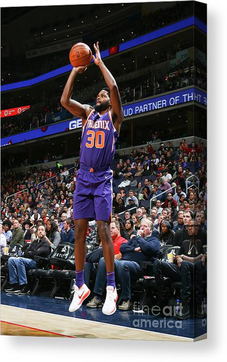 Nba Pro Basketball Canvas Print featuring the photograph Troy Daniels by Ned Dishman