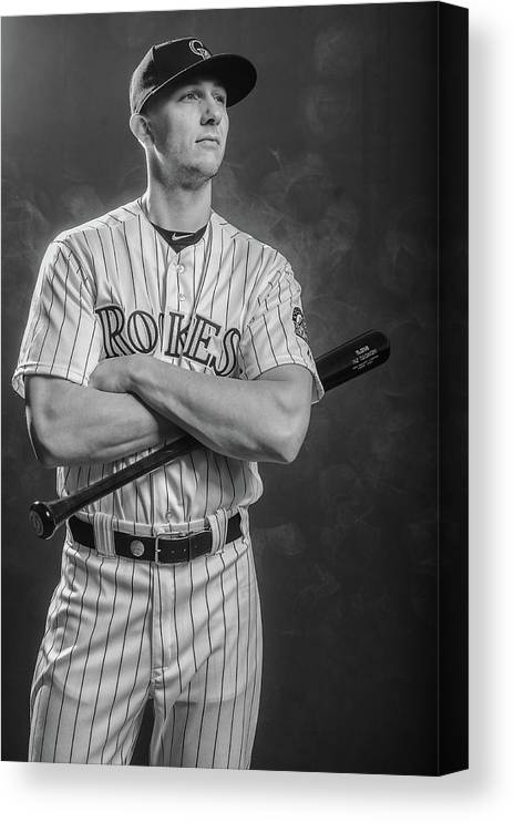 Media Day Canvas Print featuring the photograph Troy Tulowitzki by Rob Tringali