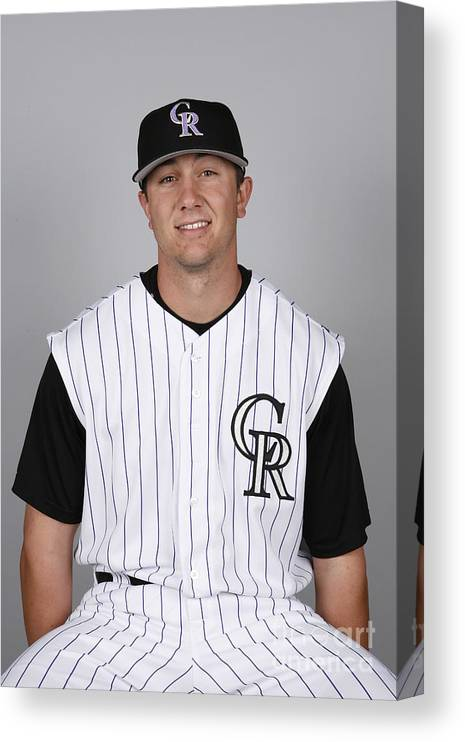Media Day Canvas Print featuring the photograph Troy Tulowitzki by Ron Vesely
