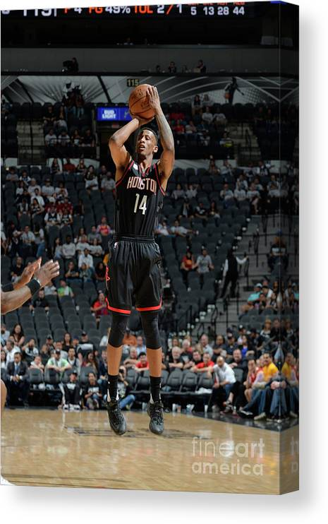 Playoffs Canvas Print featuring the photograph Troy Williams by Mark Sobhani