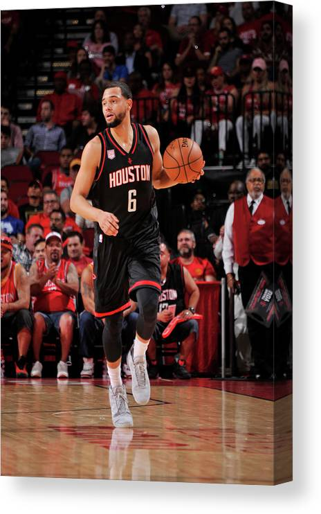 Nba Pro Basketball Canvas Print featuring the photograph Tyler Ennis by Bill Baptist
