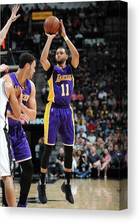 Nba Pro Basketball Canvas Print featuring the photograph Tyler Ennis by Mark Sobhani