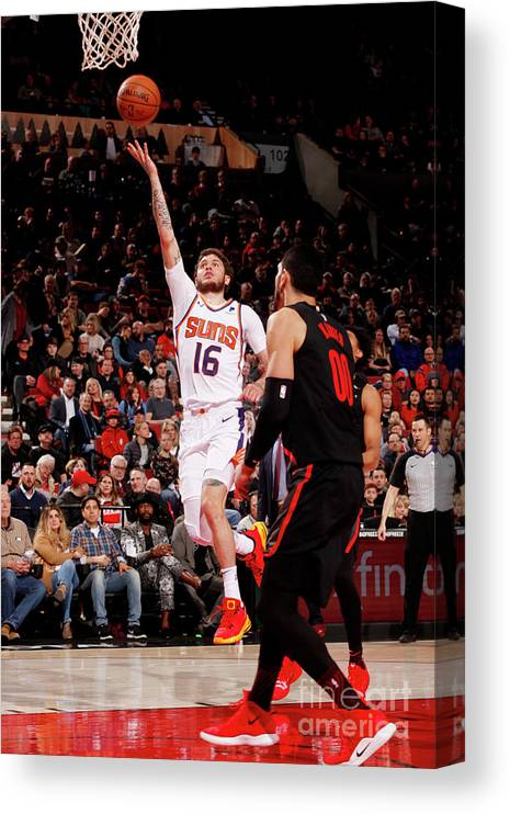 Nba Pro Basketball Canvas Print featuring the photograph Tyler Johnson by Cameron Browne