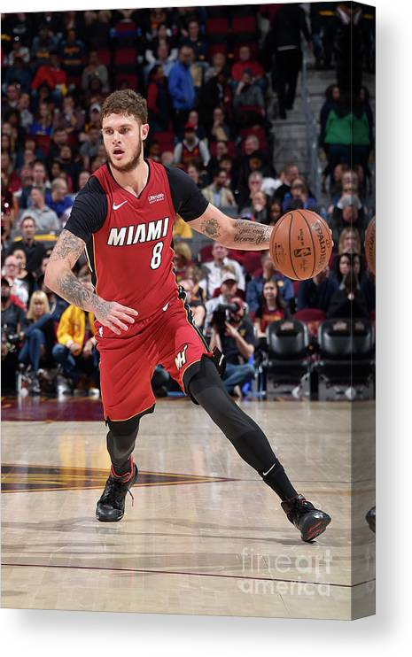 Nba Pro Basketball Canvas Print featuring the photograph Tyler Johnson by David Liam Kyle