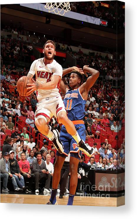 Nba Pro Basketball Canvas Print featuring the photograph Tyler Johnson by Issac Baldizon