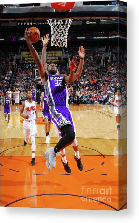 Nba Pro Basketball Canvas Print featuring the photograph Tyreke Evans by Barry Gossage