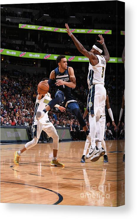 Nba Pro Basketball Canvas Print featuring the photograph Tyus Jones by Bart Young