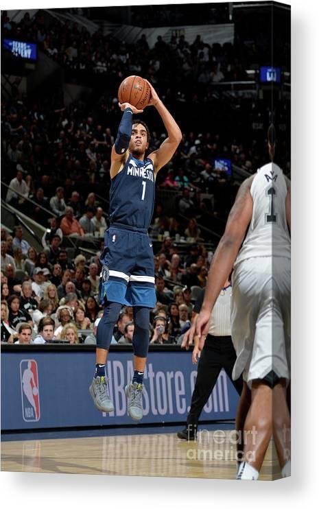 Nba Pro Basketball Canvas Print featuring the photograph Tyus Jones by Mark Sobhani