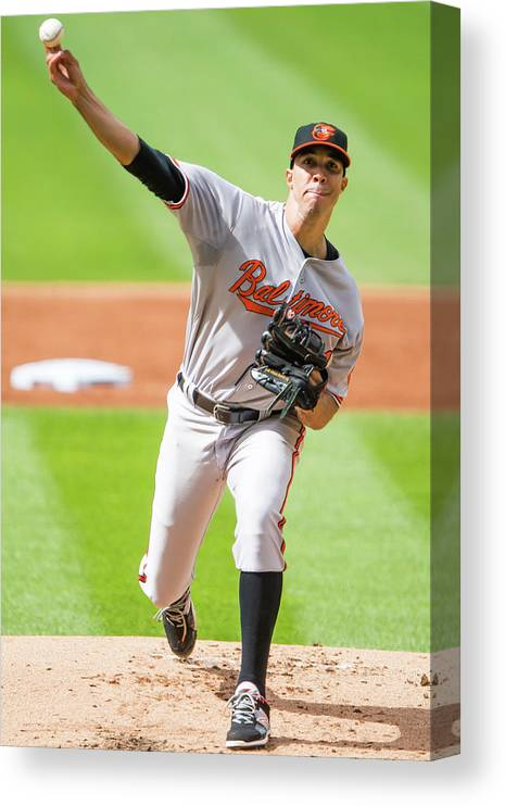 People Canvas Print featuring the photograph Ubaldo Jimenez by Jason Miller