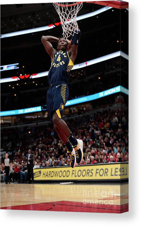 Nba Pro Basketball Canvas Print featuring the photograph Victor Oladipo by David Dow