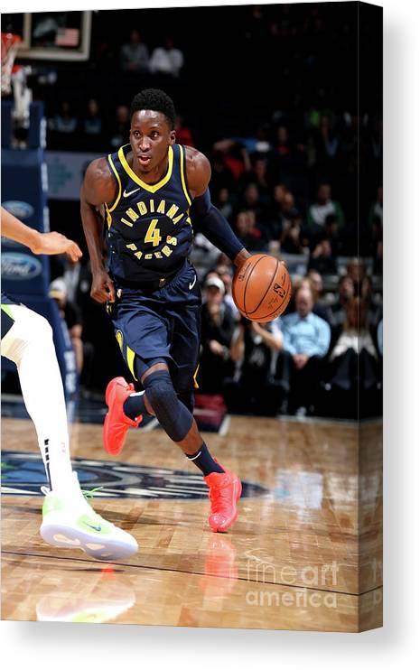 Nba Pro Basketball Canvas Print featuring the photograph Victor Oladipo by David Sherman