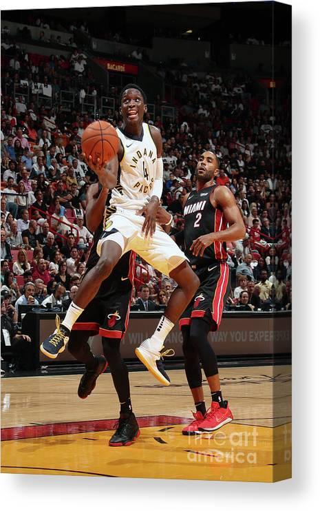 Nba Pro Basketball Canvas Print featuring the photograph Victor Oladipo by Issac Baldizon