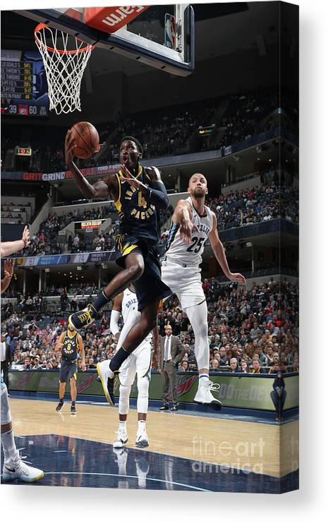 Nba Pro Basketball Canvas Print featuring the photograph Victor Oladipo by Joe Murphy