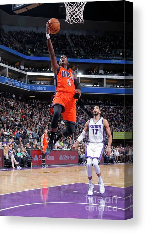 Nba Pro Basketball Canvas Print featuring the photograph Victor Oladipo by Rocky Widner