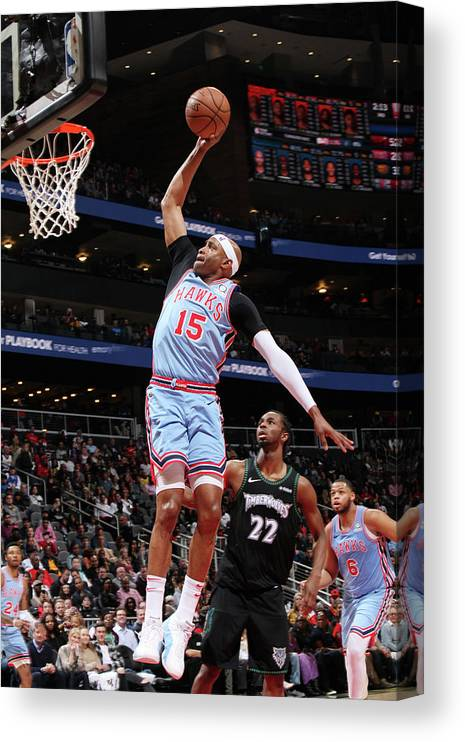 Atlanta Canvas Print featuring the photograph Vince Carter by Jasear Thompson