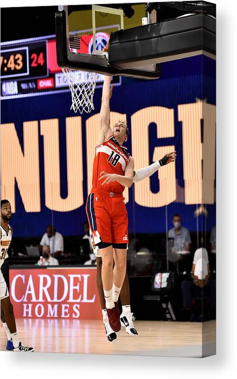 Nba Pro Basketball Canvas Print featuring the photograph Washington Wizards v Denver Nuggets by David Dow