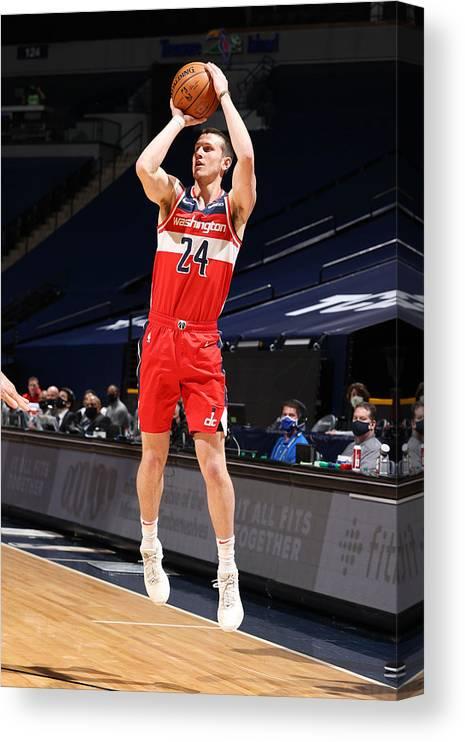 Nba Pro Basketball Canvas Print featuring the photograph Washington Wizards v Minnesota Timberwolves by David Sherman