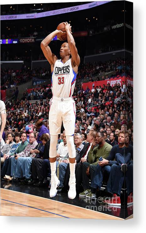 Nba Pro Basketball Canvas Print featuring the photograph Wesley Johnson by Andrew D. Bernstein