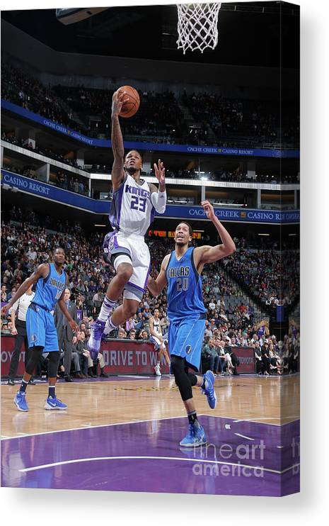 Nba Pro Basketball Canvas Print featuring the photograph Wesley Matthews by Rocky Widner