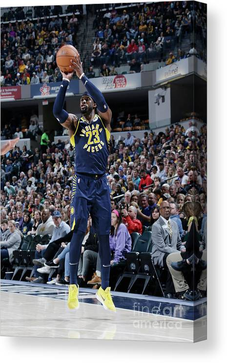 Nba Pro Basketball Canvas Print featuring the photograph Wesley Matthews by Ron Hoskins