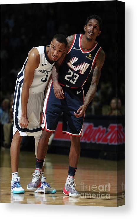 Nba Pro Basketball Canvas Print featuring the photograph William Avery by Joe Murphy