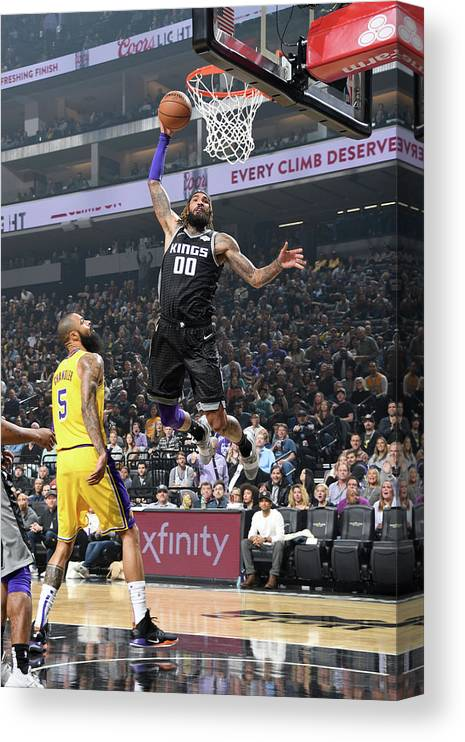 Nba Pro Basketball Canvas Print featuring the photograph Willie Cauley-stein by Andrew D. Bernstein