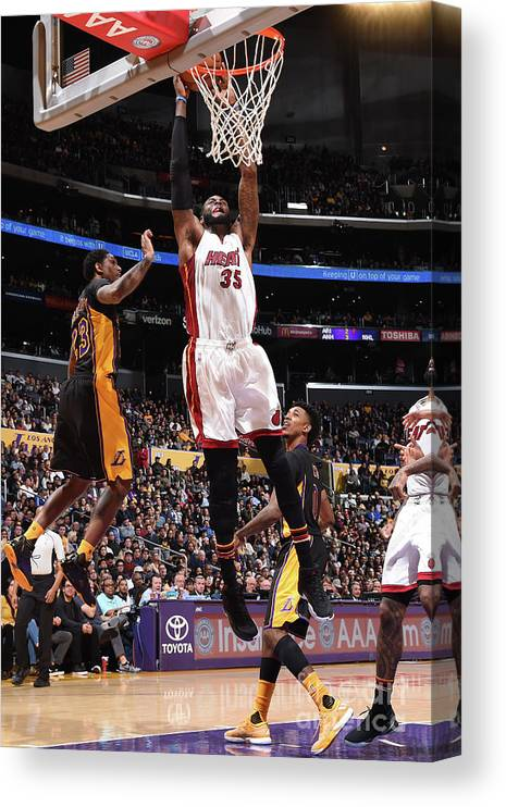 Nba Pro Basketball Canvas Print featuring the photograph Willie Reed by Andrew D. Bernstein