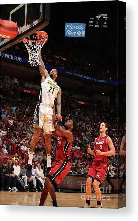 Nba Pro Basketball Canvas Print featuring the photograph Wilson Chandler by Issac Baldizon