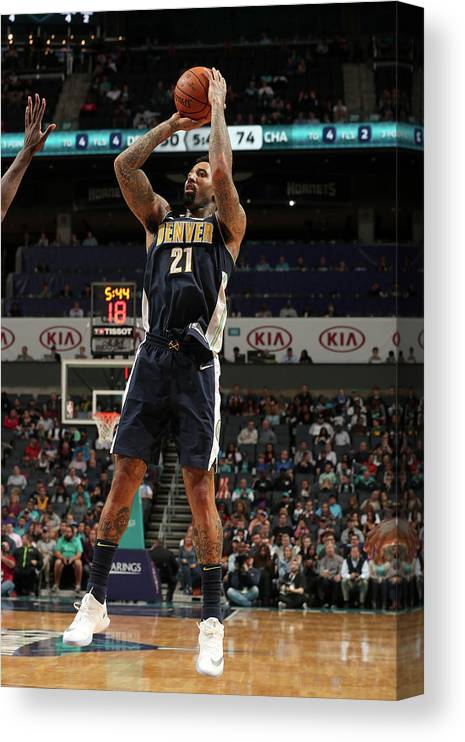 Nba Pro Basketball Canvas Print featuring the photograph Wilson Chandler by Kent Smith