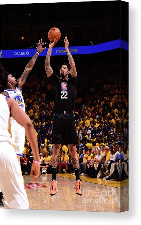 Playoffs Canvas Print featuring the photograph Wilson Chandler by Noah Graham