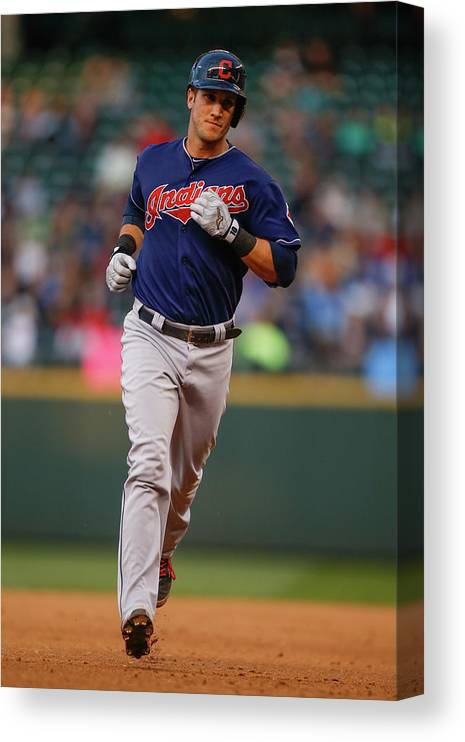 American League Baseball Canvas Print featuring the photograph Yan Gomes by Otto Greule Jr
