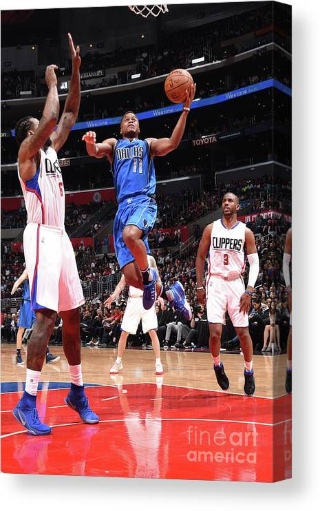 Nba Pro Basketball Canvas Print featuring the photograph Yogi Ferrell by Andrew D. Bernstein