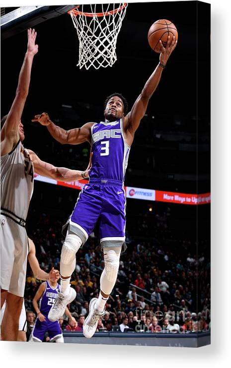Nba Pro Basketball Canvas Print featuring the photograph Yogi Ferrell by Garrett Ellwood