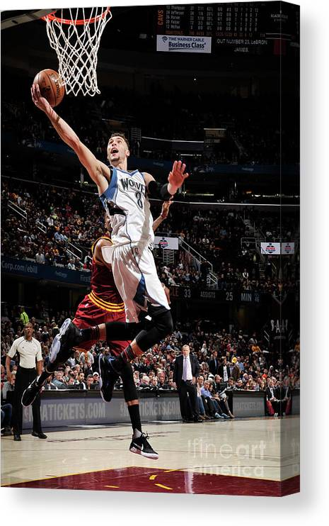 Nba Pro Basketball Canvas Print featuring the photograph Zach Lavine by David Liam Kyle