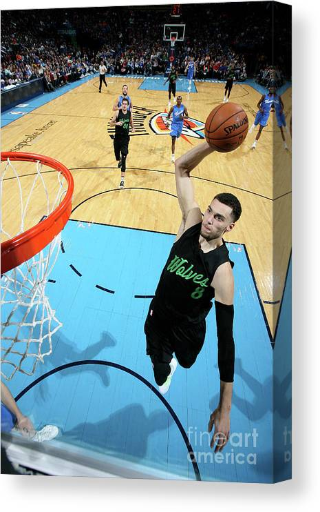 Nba Pro Basketball Canvas Print featuring the photograph Zach Lavine by Layne Murdoch