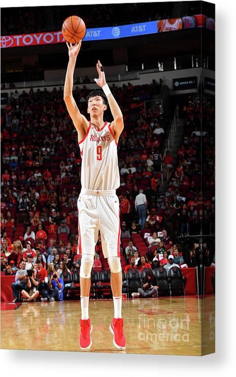 Nba Pro Basketball Canvas Print featuring the photograph Zhou Qi by Jesse D. Garrabrant