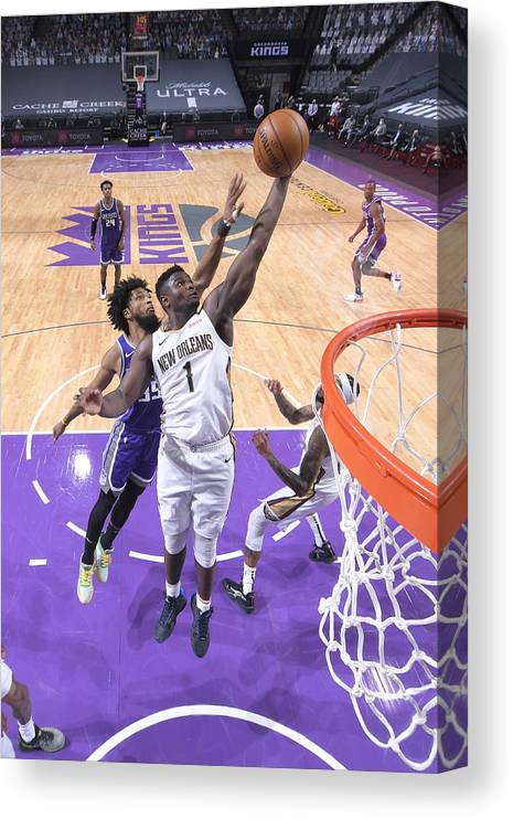 Nba Pro Basketball Canvas Print featuring the photograph Zion Williamson by Rocky Widner