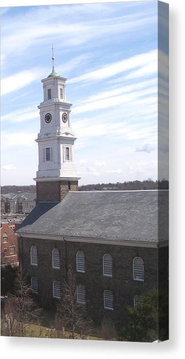 Architecture Canvas Print featuring the photograph Into the Blue by Pharris Art
