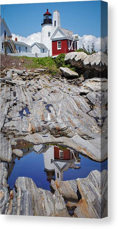 Lighthouse Canvas Print featuring the photograph Reflections of Pemaquid by Brenda Giasson