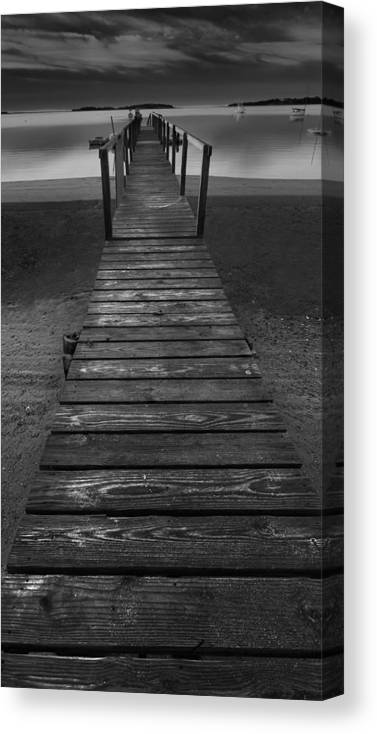 Early Morning Canvas Print featuring the photograph Early Morning Black and White Landscape by Dapixara Art