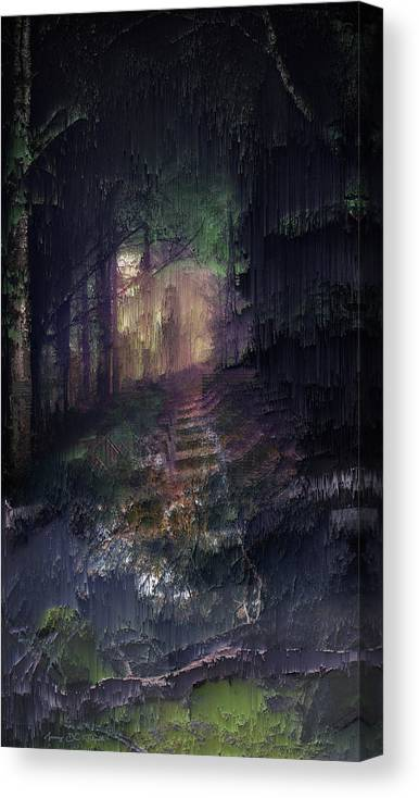 Landscape Canvas Print featuring the digital art Morning light on the very last day by Jenny Filipetti
